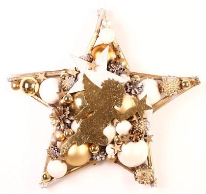 stern, deko, weihnachtsdeko, winter deko, handgefertigter stern, engel
