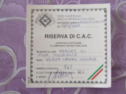 Riserva C.A.C Nazionale Reggio Emilia