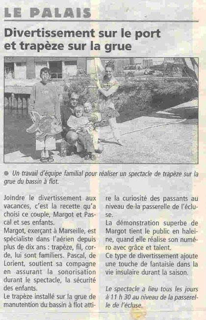 Le Télégramme - août 2007