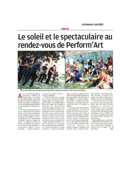 Article La Provence 5 juin 2012