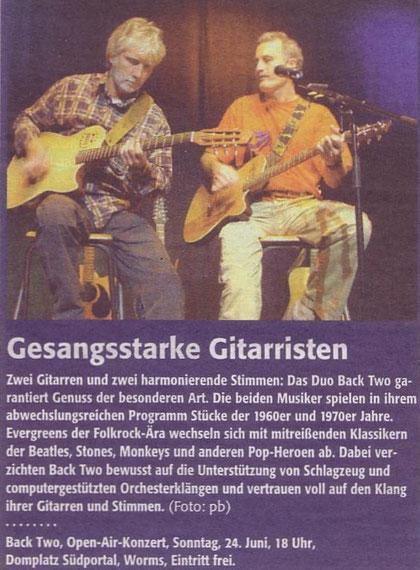 Open air Konzert Wormser Dom