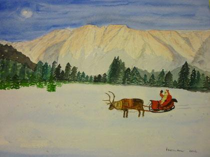 Frohe Weihnachten 2012 - ich muß schnell zu den Kindern nach Amerika!!!