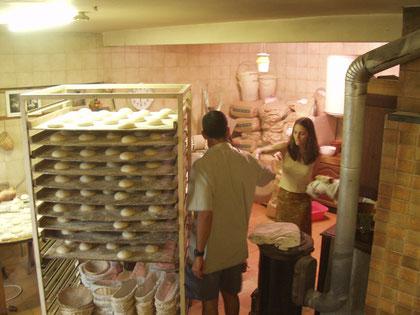 Les boules de pain prêtes à être enfournées