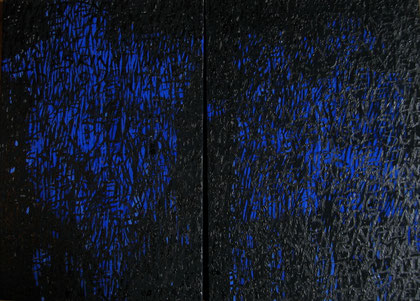 s.t.  2006  diptych     ink  gouache on paper and plywood    50 x 75 cm
