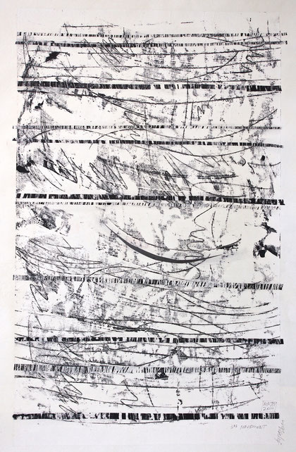 third movement (from a moravian summer)  2011   monotype   ink on rice paper  75 x 110 cm