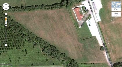 Vue aérienne du site, avant travaux