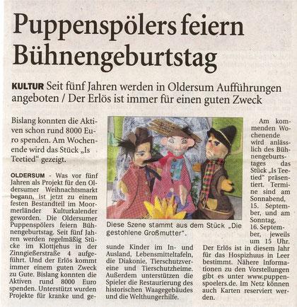 Ostfriesen-Zeitung vom 13.09.2011