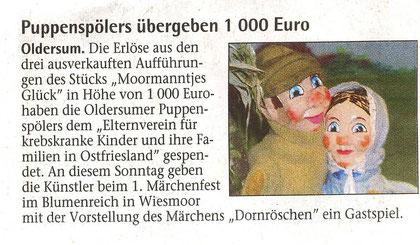 Sonntagsblatt der Emder Zeitung v. 10.07.2011