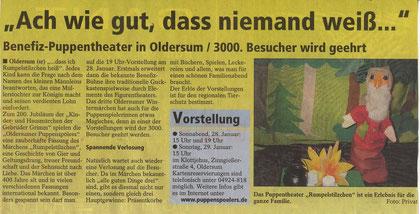 SonntagsReport v. 8.01.2012