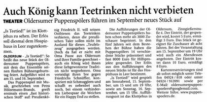 Ostfriesen-Zeitung vom 13.08.2012