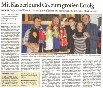 Ostfriesen-Zeitung v. 23.03.2013, Nadine Schipper
