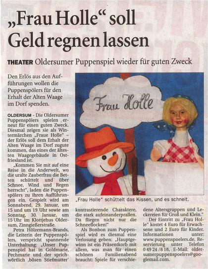 Ostfriesen-Zeitung 15.01.2011