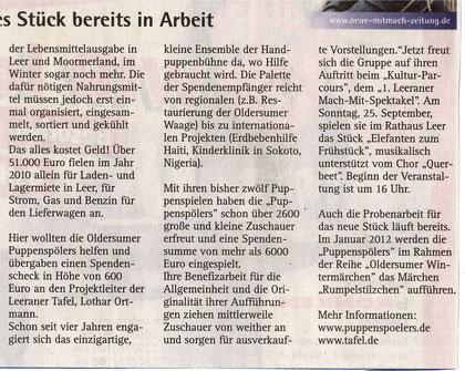 Neue Zeitung v. 3.09.2011