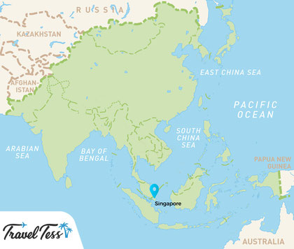 Kaart Zuid-Oost Azië