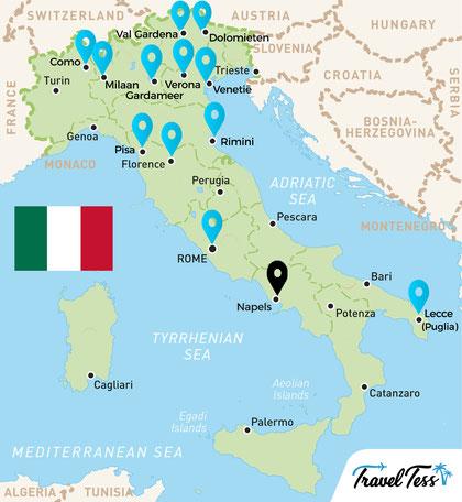 Kaart van Italië