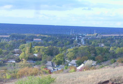 Вид на село з пагорбу