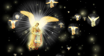 ангелы поднимают к Богу души русских воинов