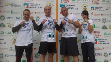 Auch auserhalb des Ringes stark. 9 Platz beim Via Solution Staffellauf am 15.09.2012