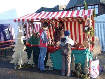 Marktstand Jettinger Weihnachtsmarkt 2008