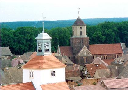 Über den Dächern der Stadt Treuenbrietzen