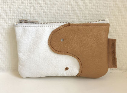 recycled leather wallet purple