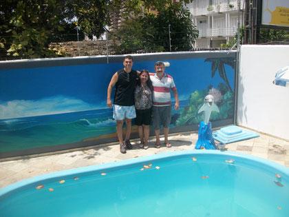 Dr. Cel Vieira Goulart, amigo e agora hóspede ilustre, falta a dona Adriana vir para completar esta foto!