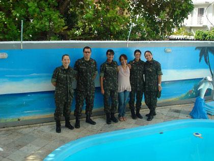 O Centro de Estudos de Pessoal do EB, representado por esta Equipe, cumprindo uma missão importantíssima, que é selecionar a tropa nordestina que irá para a Missão de Paz  no HAITI;estiveram hospedados na Favo de Mel. OBRIGADO POR NOS ESCOLHER!!