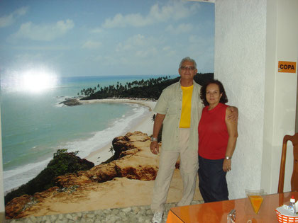 Coronel de Infantaria Daniel e sua esposa, D. Ane; amigos que tem sempre a reserva garantida aqui nesta Pousada...TFA!