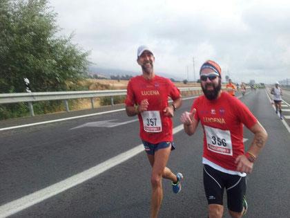 Dionisio Flores, y Juan Valera en un momento de la prueba.PINCHA MÁS FOTOS
