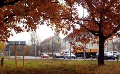 Kreuzung in Hoyerswerda