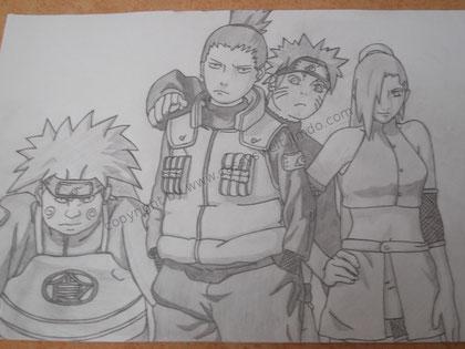 25. August 2011 - v.l.n.r. Choji, Shikamaru, Naruto und Ino
