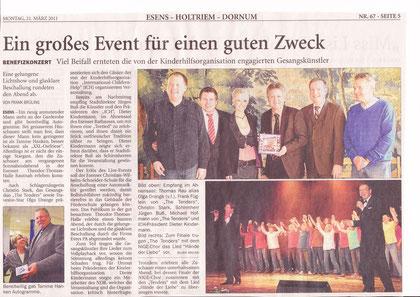 Gala in Ostfriesland - international children help