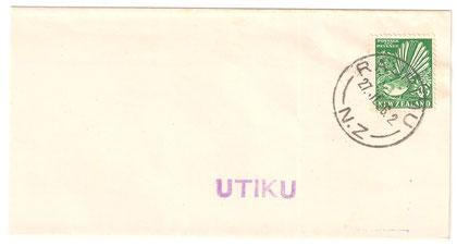27th of July 1936, a small wrapper, Raurimu to Utiku, J Class.