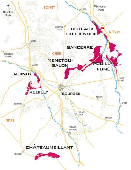 Le vignoble du domaine de l 39 ermitage les vins de menetou salon aoc domaine de l 39 ermitage - Menetou salon domaine de l ermitage ...