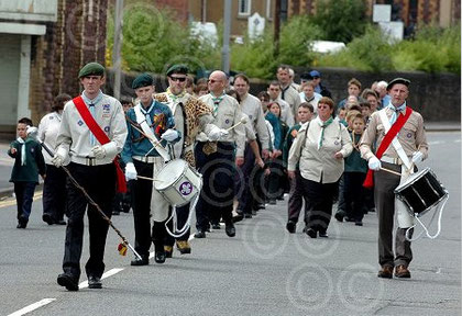 Marching with the scout band