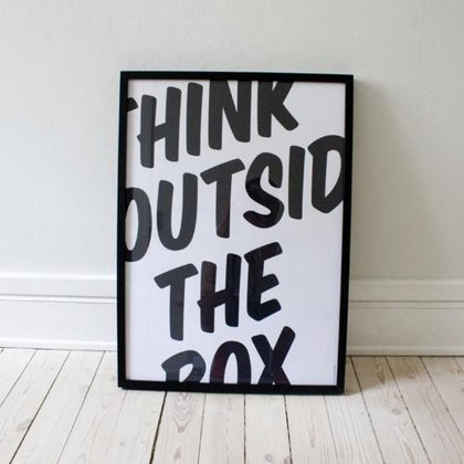 Think outside the box, copyright: unbekannt