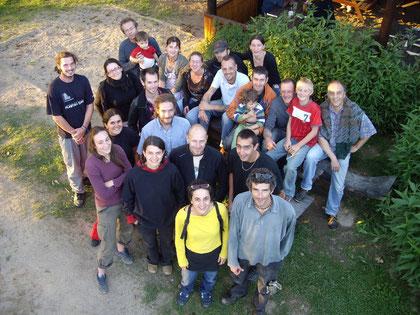 après-démontage: les survivants de l'équipe du Festival Enfermés Dehors 2007
