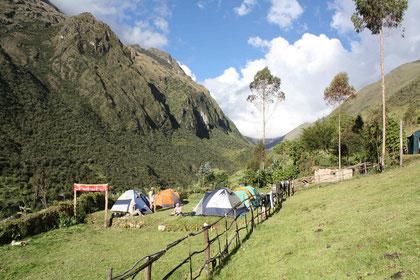 Campement à Yanama