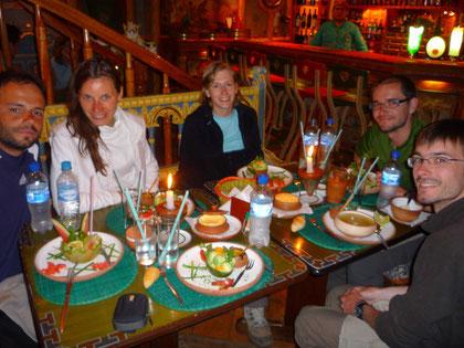 Diner à L'Indio Feliz