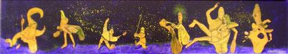 """Bienenkopf"" Acryl auf LW 15x85 (12.09.2010)"