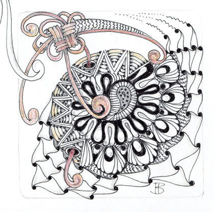 Ausschnitt in Zentagle-Tile-Größe