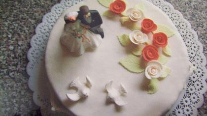Hochzeitstorte -Blick von oben-