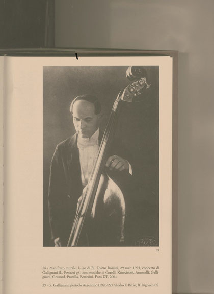 GUIDO GALLIGNANI - a great double bass player who wrote very interesting Methods for the double bass, probably a little bit forgotten