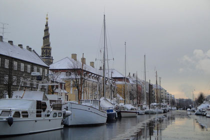sur les canaux gelés de Copenhague...