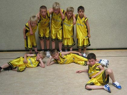 Das U10-Team nach dem Gewinn des Gisela Kiesling Cups am 14.07.2013