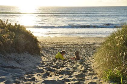 """... und am gleichen Tag: Sonnenuntergang an der West Coast"""""""