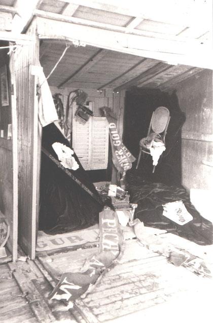 Installation de SERVIN Marché de la POésie 1987