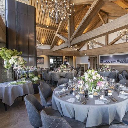 Décors de table pour un mariage à Méribel- Floral by S à Courchevel Moriond