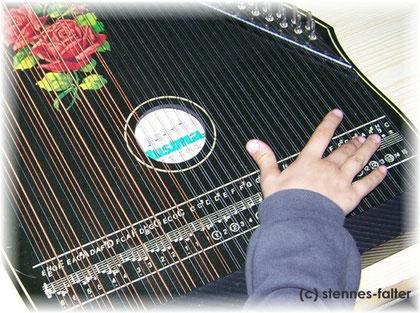 6-Akkordzither mit Mandolinbesaitung