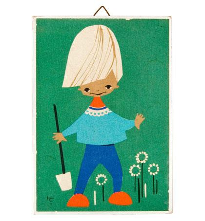 60er Agnes Jaklien Moerman Kinderbild Vintage